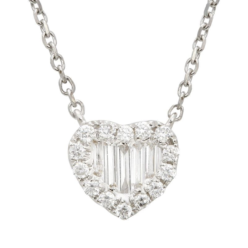 Diamond Baguette Heart Necklace