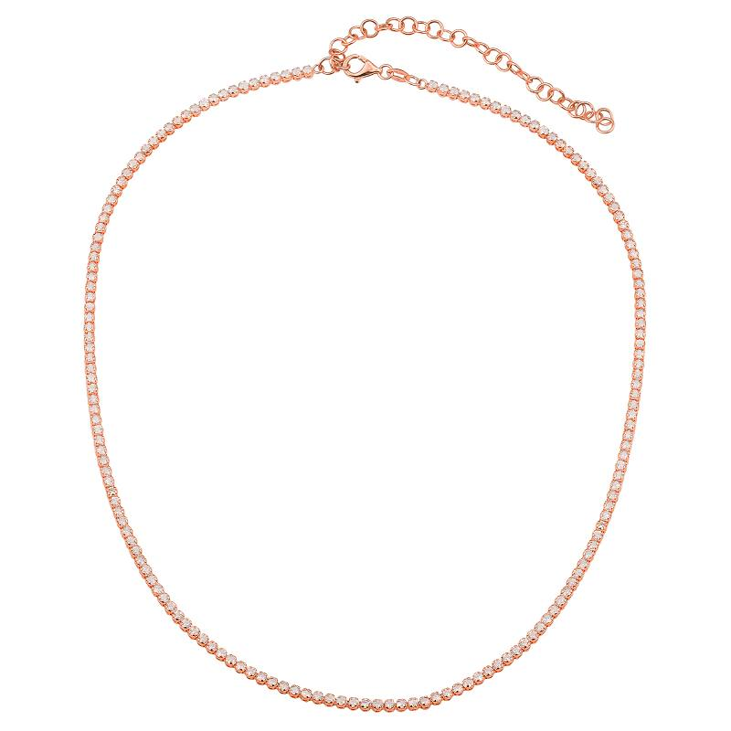 Diamond Tennis Necklace with Extension