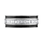 2 Enamel Bands + Horizontal Diamond Ring