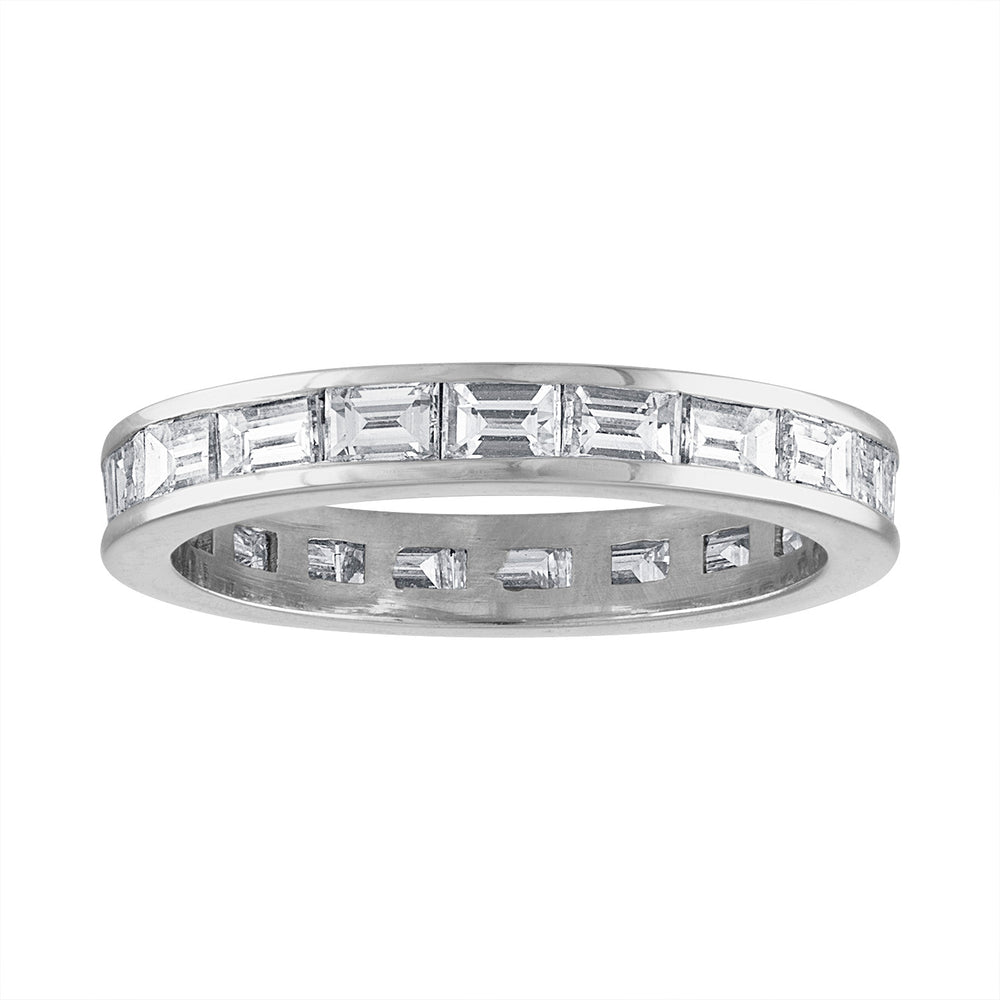 Horizontal Diamond Channel Eternity Band