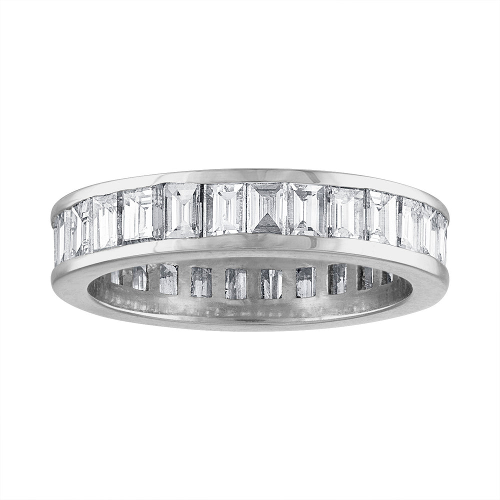 Vertical Diamond Channel Eternity Band