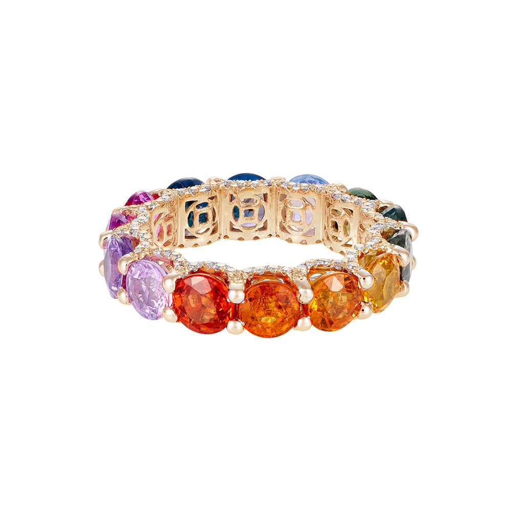 Holy Multicolor Sapphire Ring