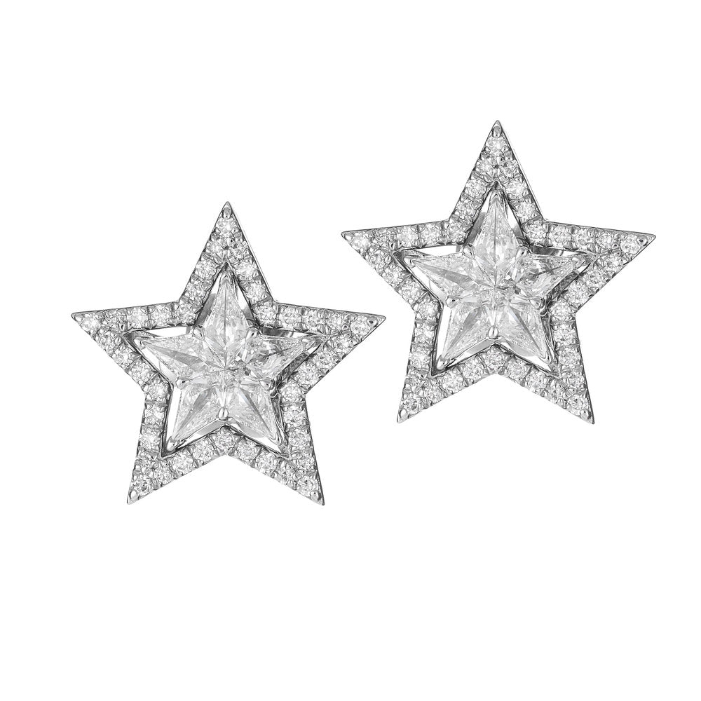 Star-Shaped Diamond Stud