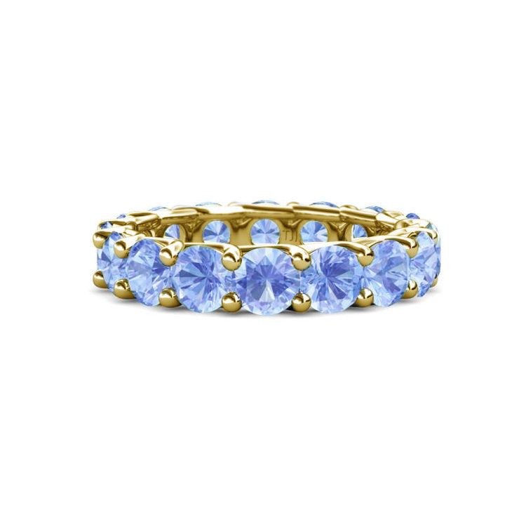 Light Blue Sapphire Eternity Band