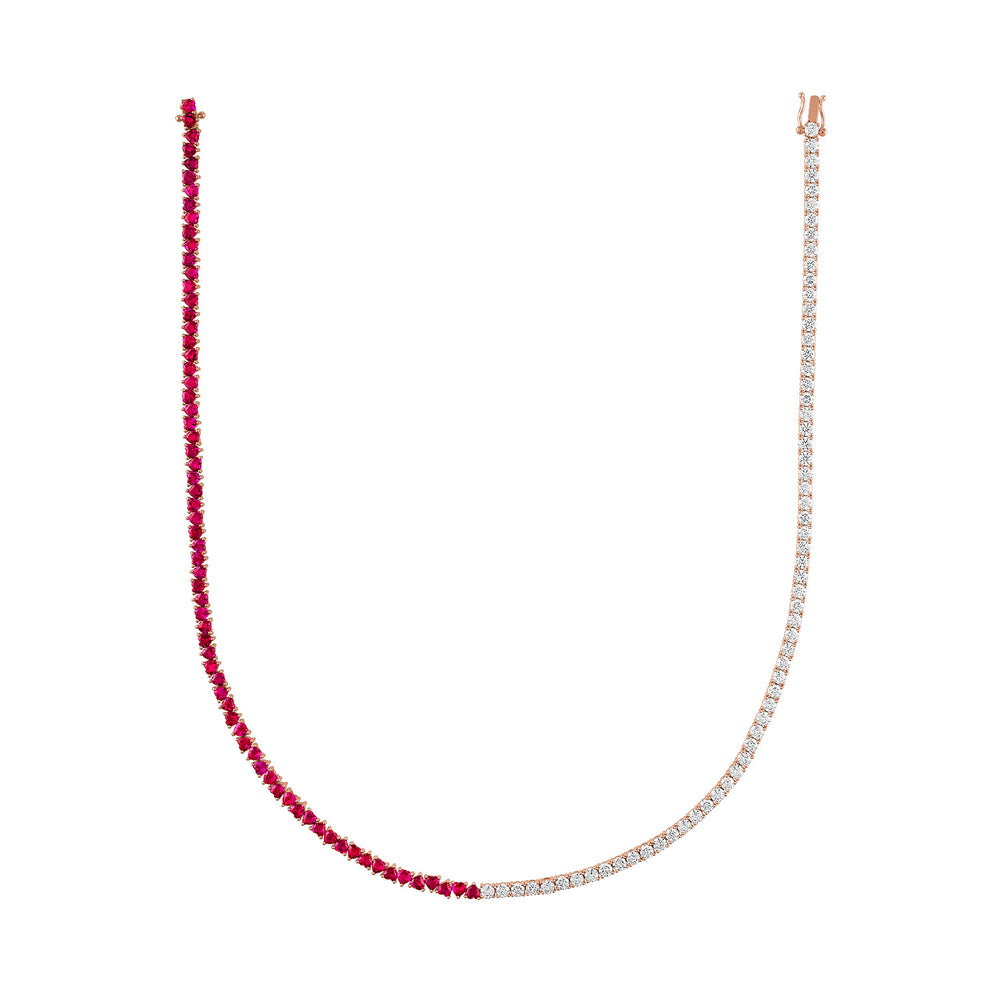 3 Multicolor Topaz Chain Necklace