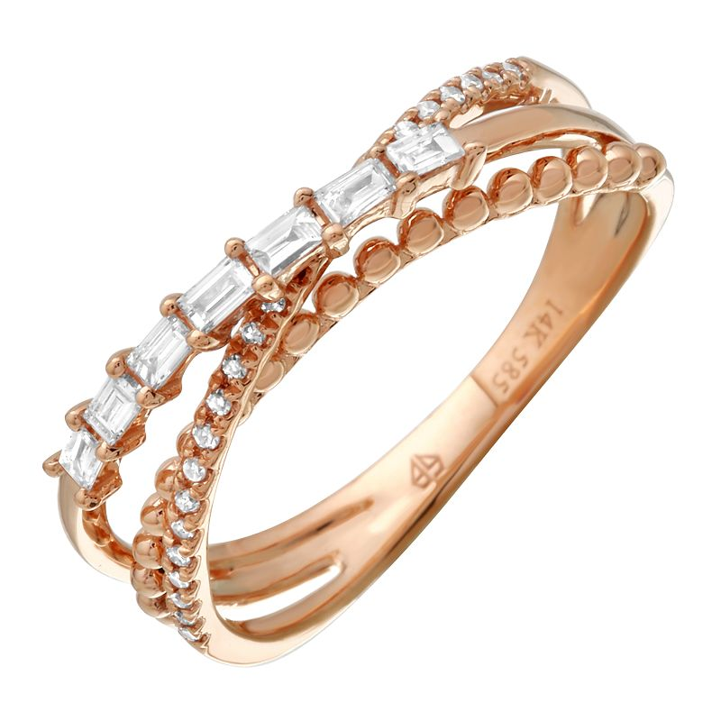 Gold and Diamond Triple Band