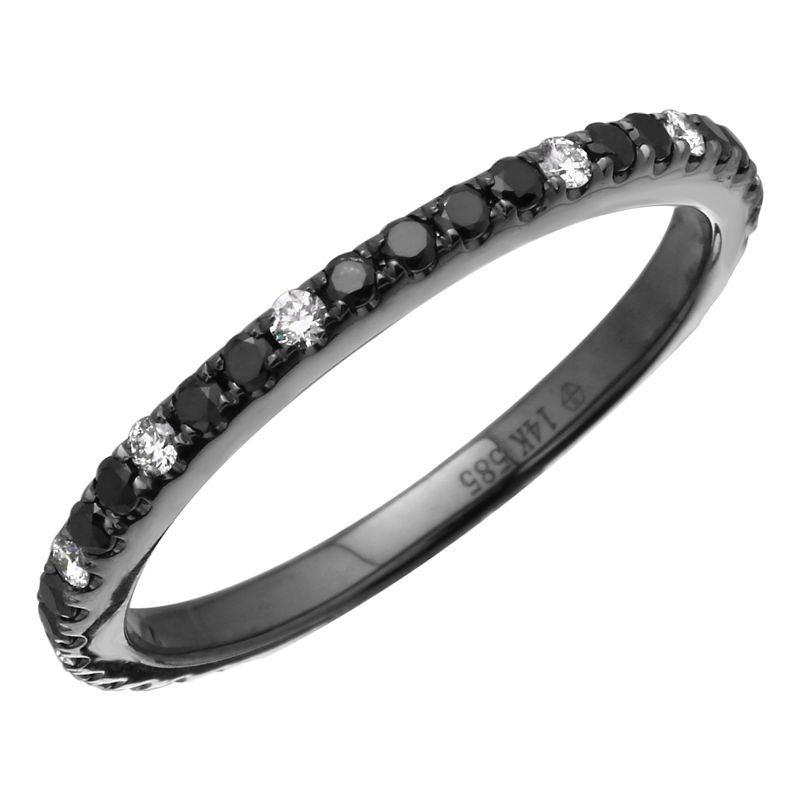 Black and White Diamond Mini Band