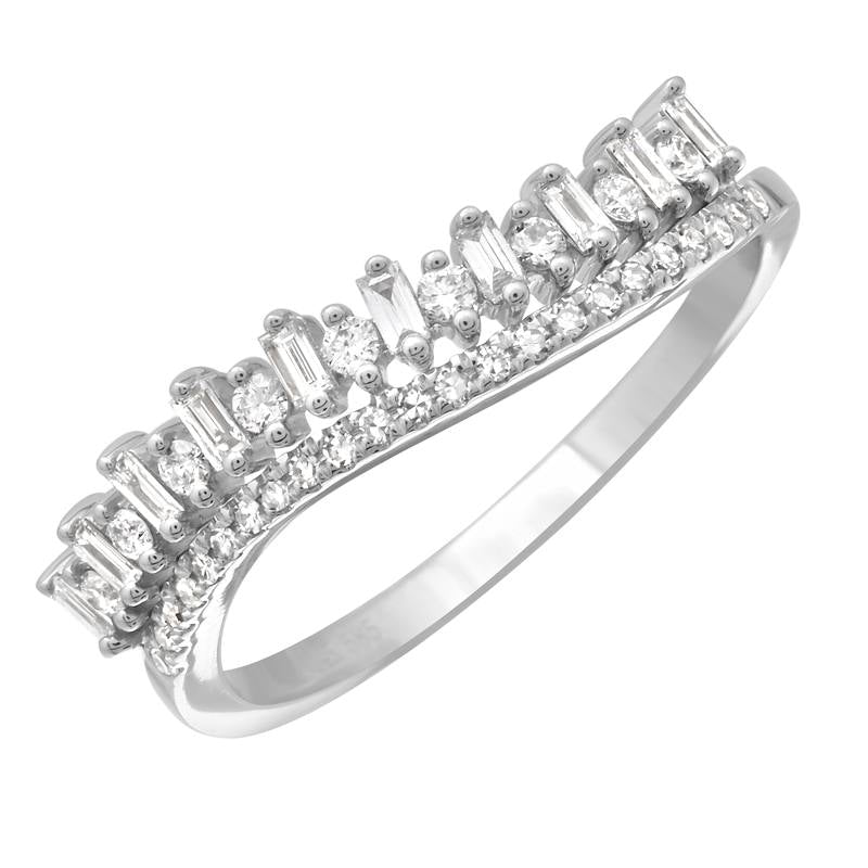 Baguette Wave Diamond Ring