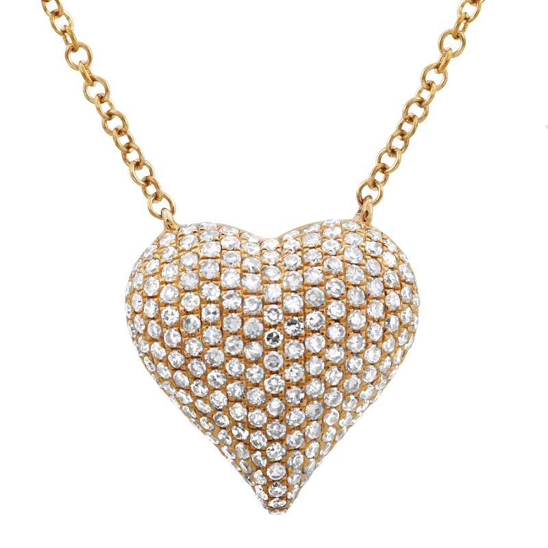 Big Diamond Heart Necklace