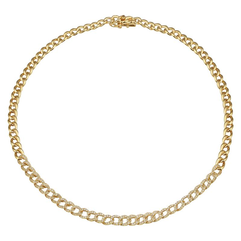 Gold Link Diamond Necklace