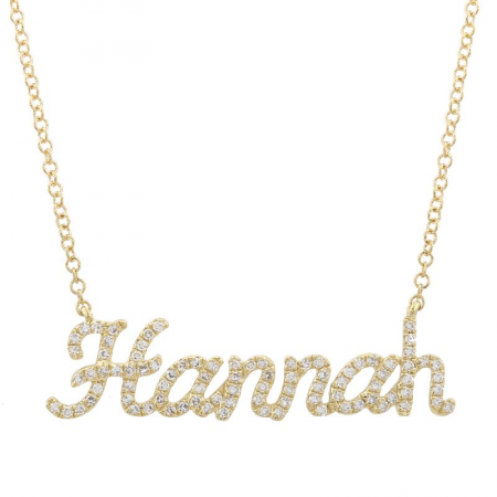 Diamond Script Name Necklace