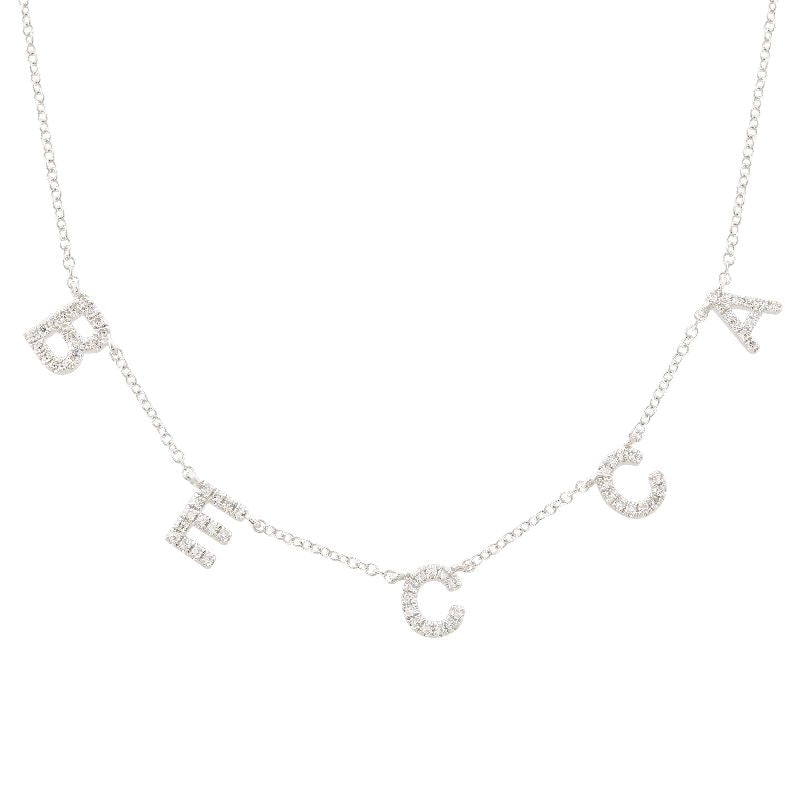 Diamond Separate Name Necklace