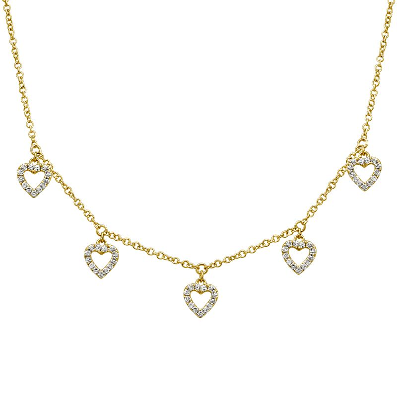 Diamond Hearts Necklace