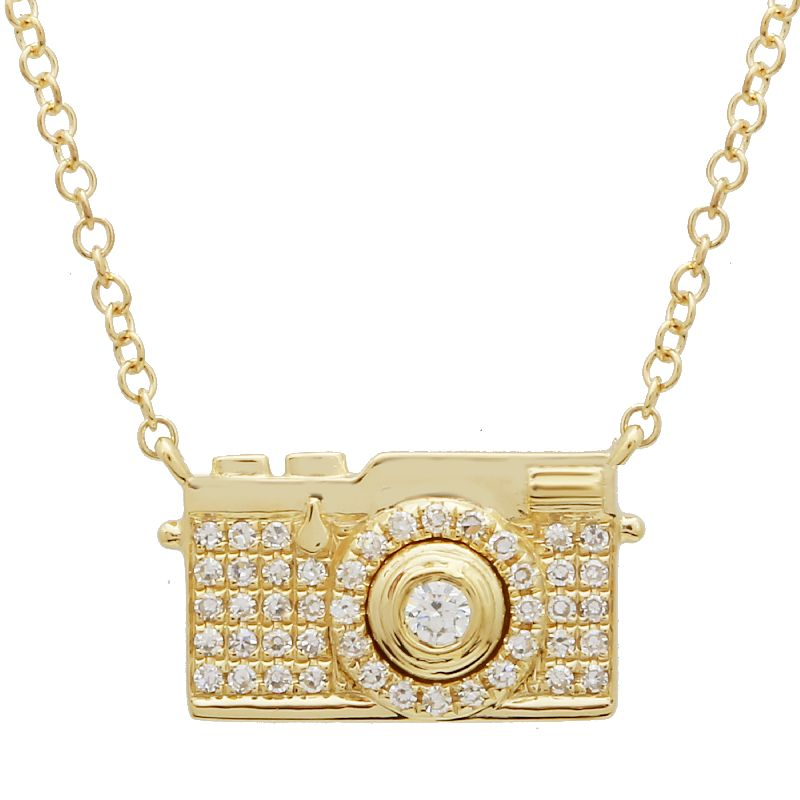 Camera Diamond Necklace
