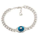 Diamond Evil Eye Link Bracelet