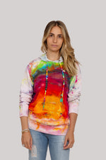 Multicolor Striped Tie Dye