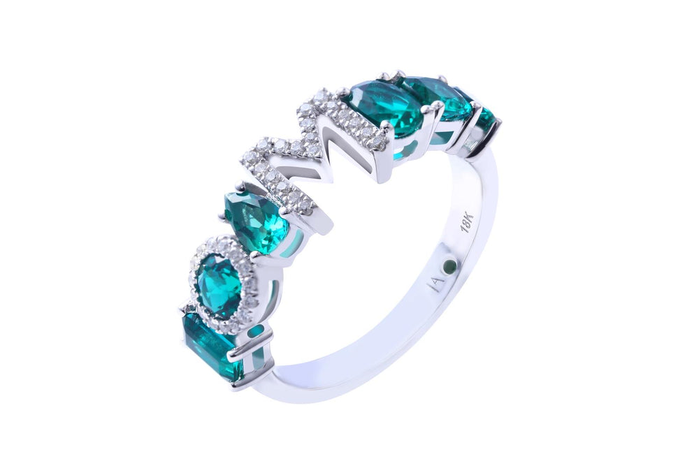 4MM Liami Bebe Custom Ring -  Semi-Precious Stones