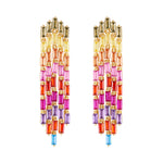 Multicolor Baguettes Earrings