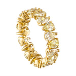 Pear Shaped Yellow Diamond Eternity Band