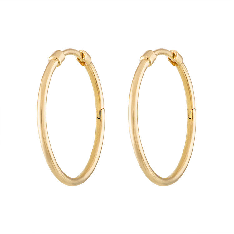 Small Thin Gold Hoops