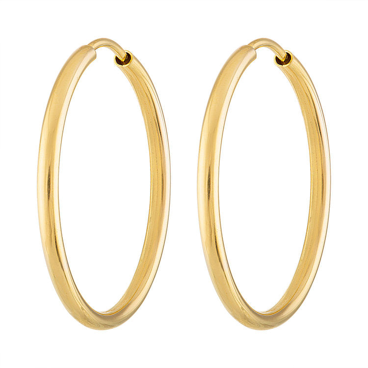 Big Thin Gold Hoops
