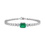 Bezel Set Emerald Tennis Bracelet