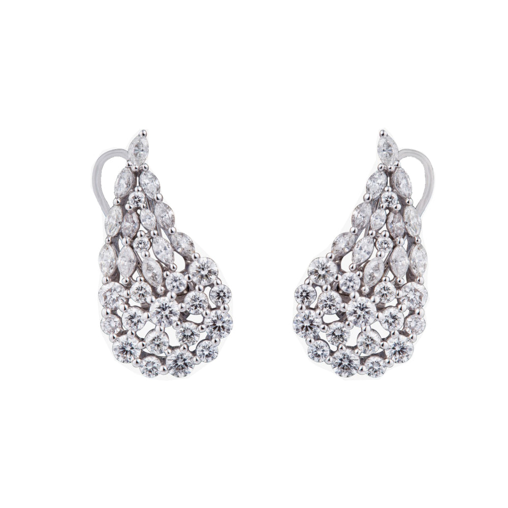 Diamond Wing Earrings