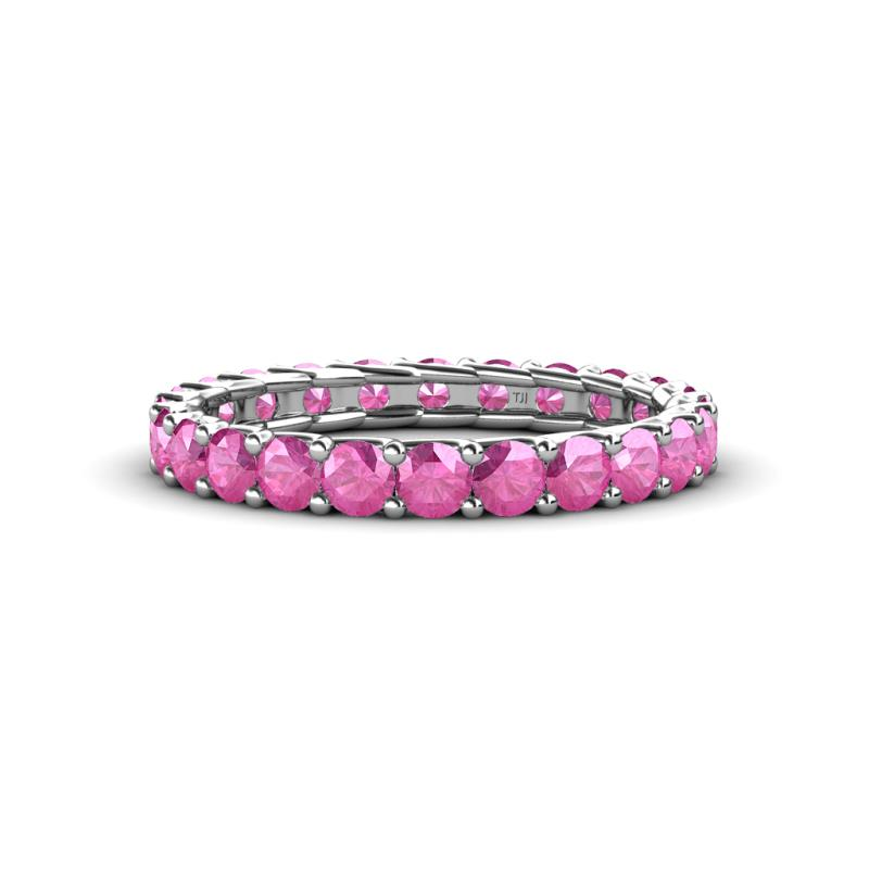 Pink Sapphire Eternity Band