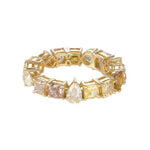 Multishape Yellow Diamond Eternity Band