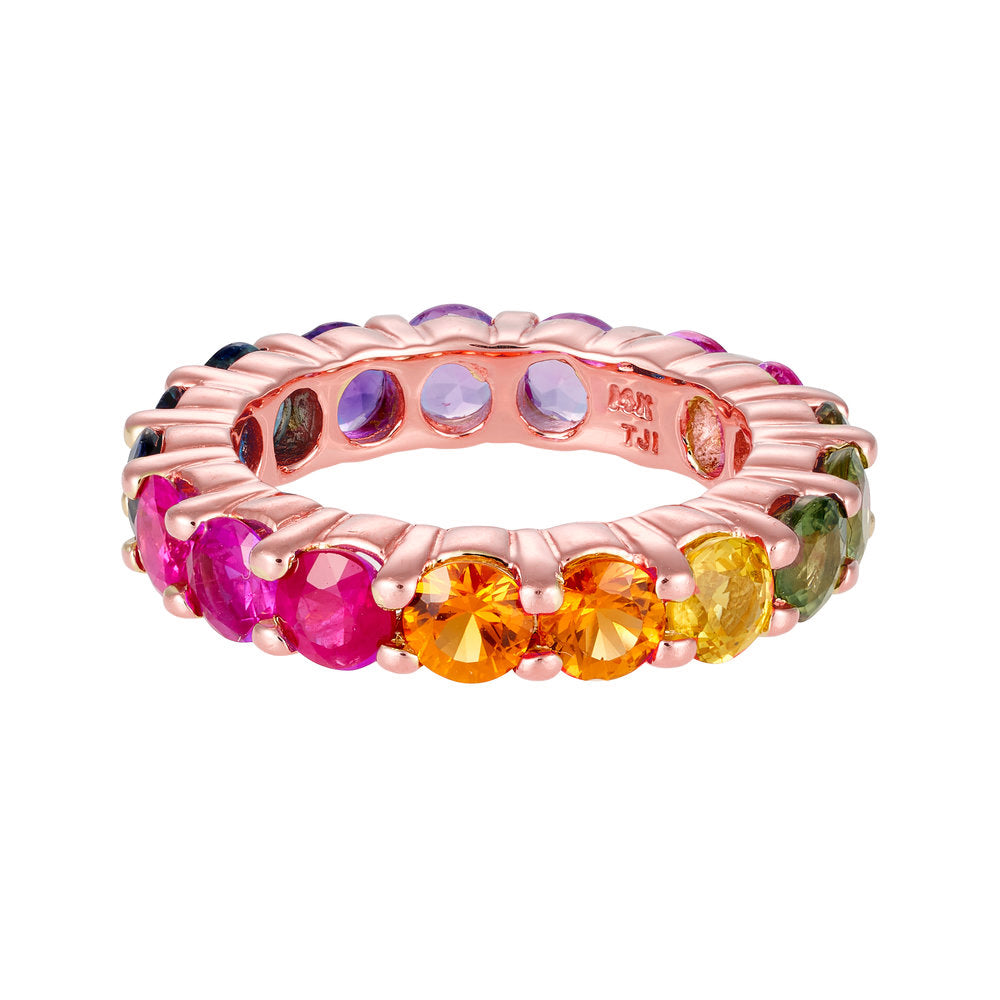 Multicolor Eternity Band