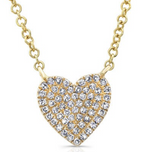 Pave Heart Necklace