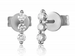 Prong Set Diamond Bar Earrings