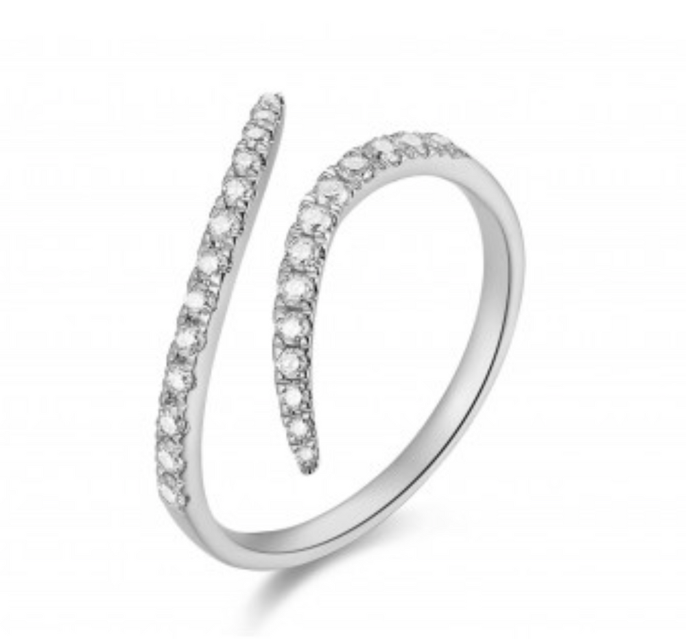 Double Wave Diamond Ring