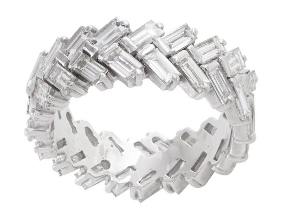 Chevron Diamond Eternity Band