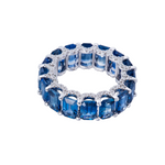 Holy Emerald Cut Blue Sapphire Ring