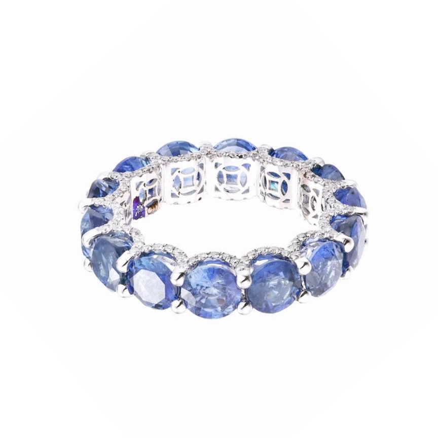 Holy Light Blue Sapphire Ring