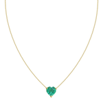 Emerald Heart Necklace