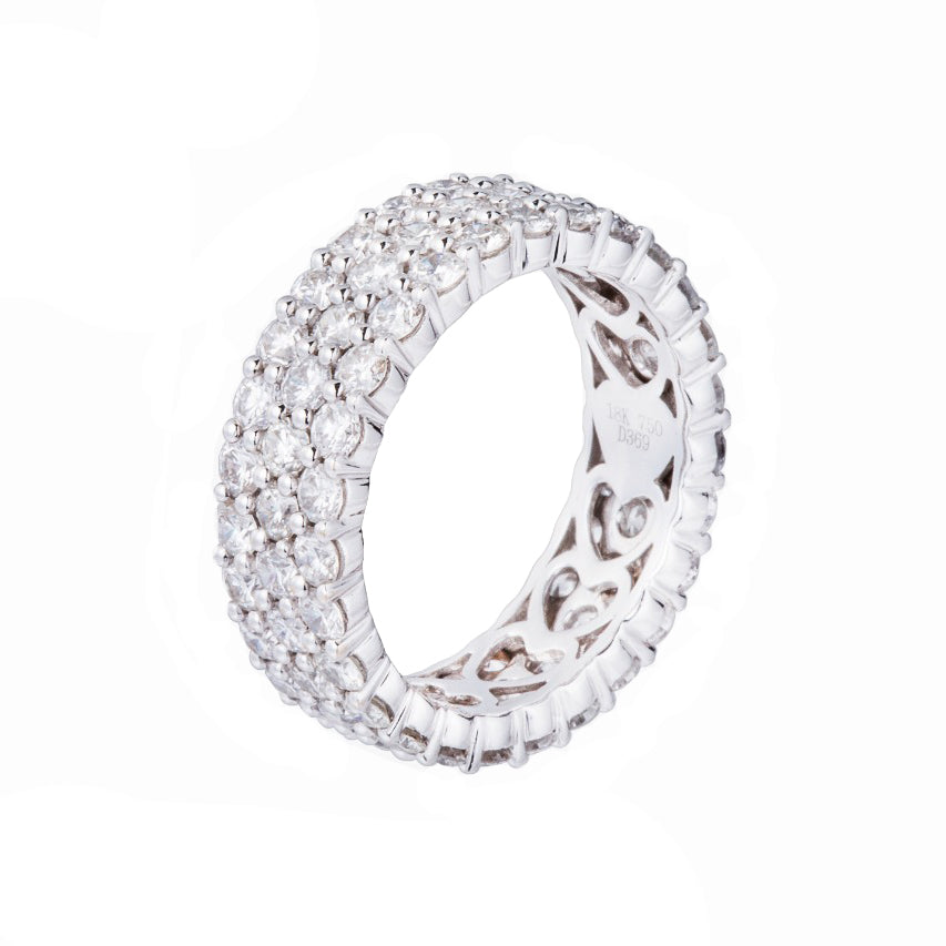 Three Rows Diamond Eternity Band