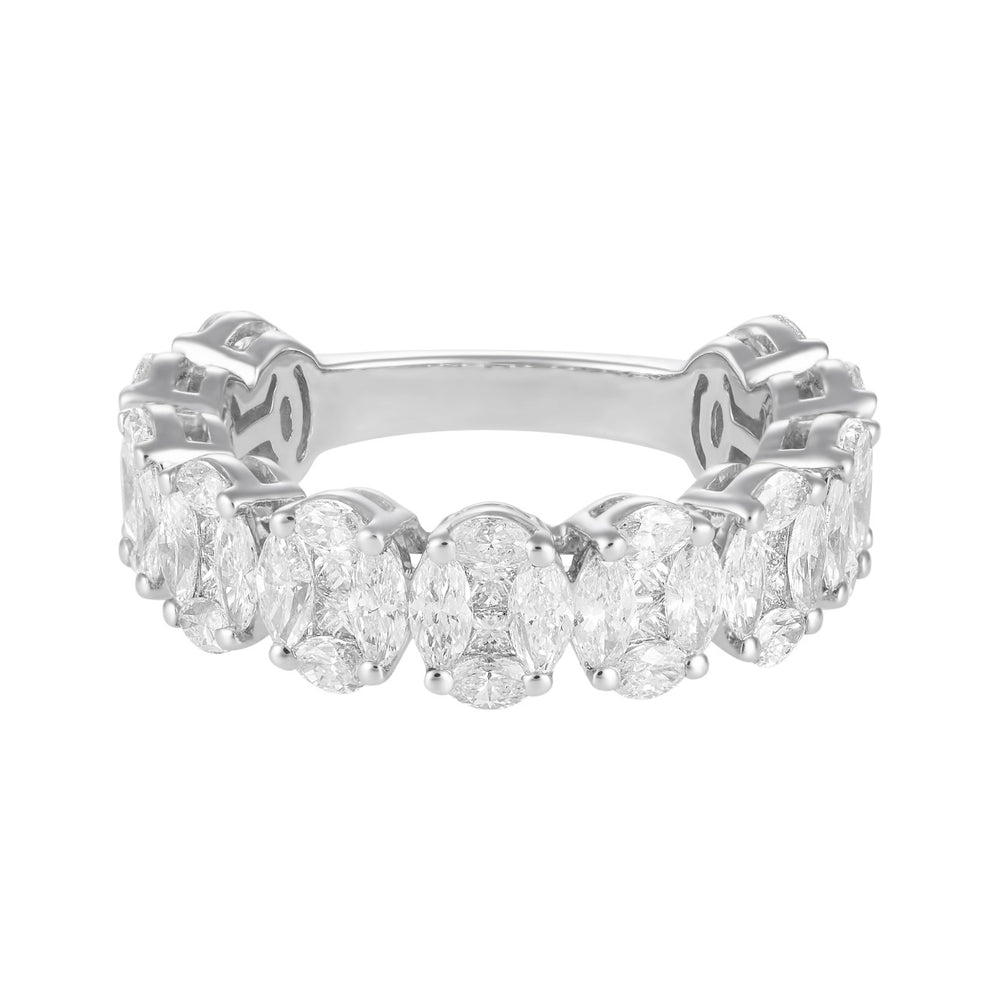 Illusion Oval Diamond Eternity Band