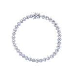 Triple Round Diamond Tennis Bracelet