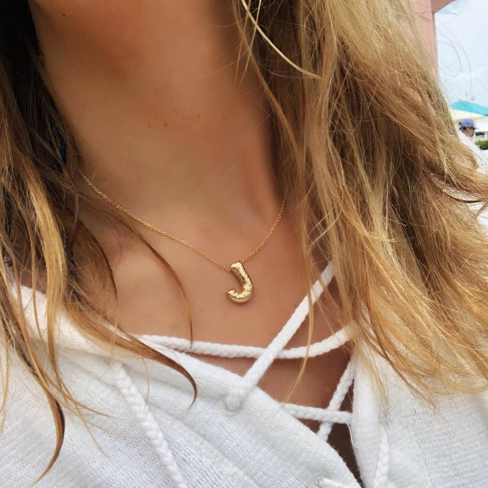 Balloon Gold Initial Necklace
