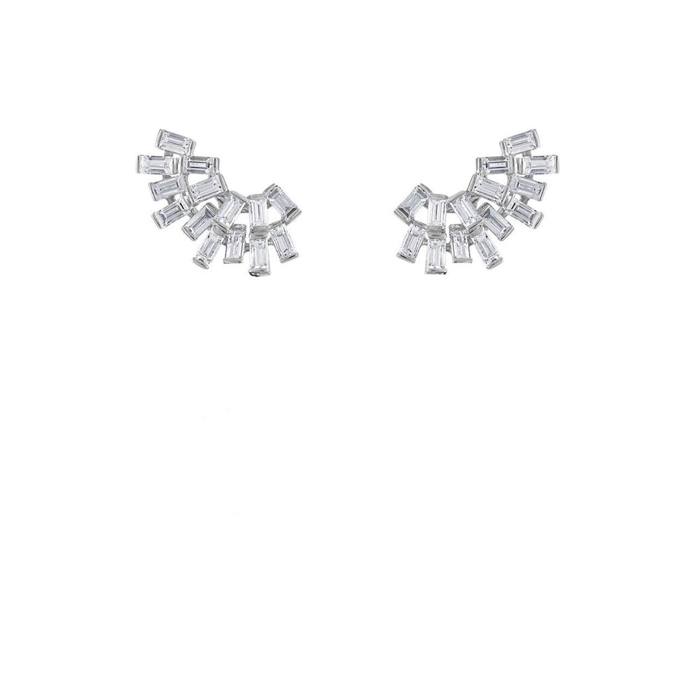 Diamond Clusters with Removable Emeralds Earrings