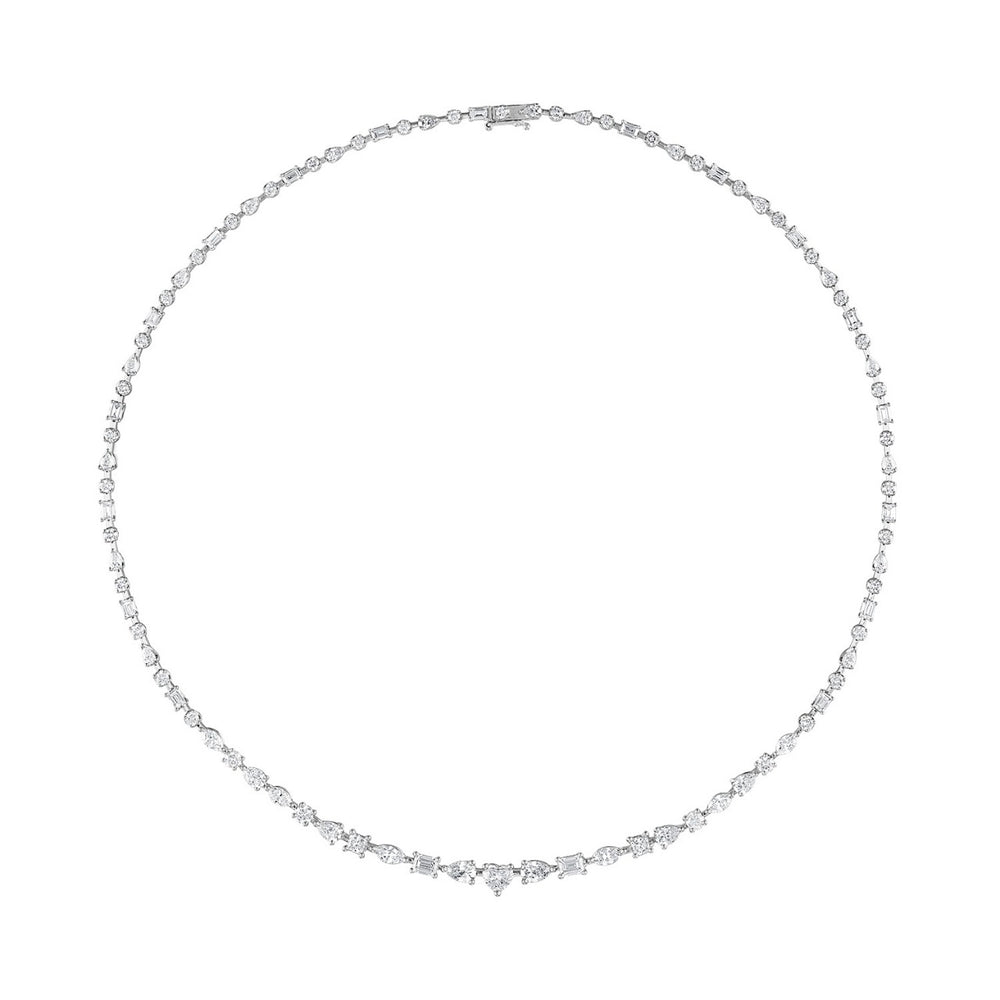 Multishape Diamond Necklace