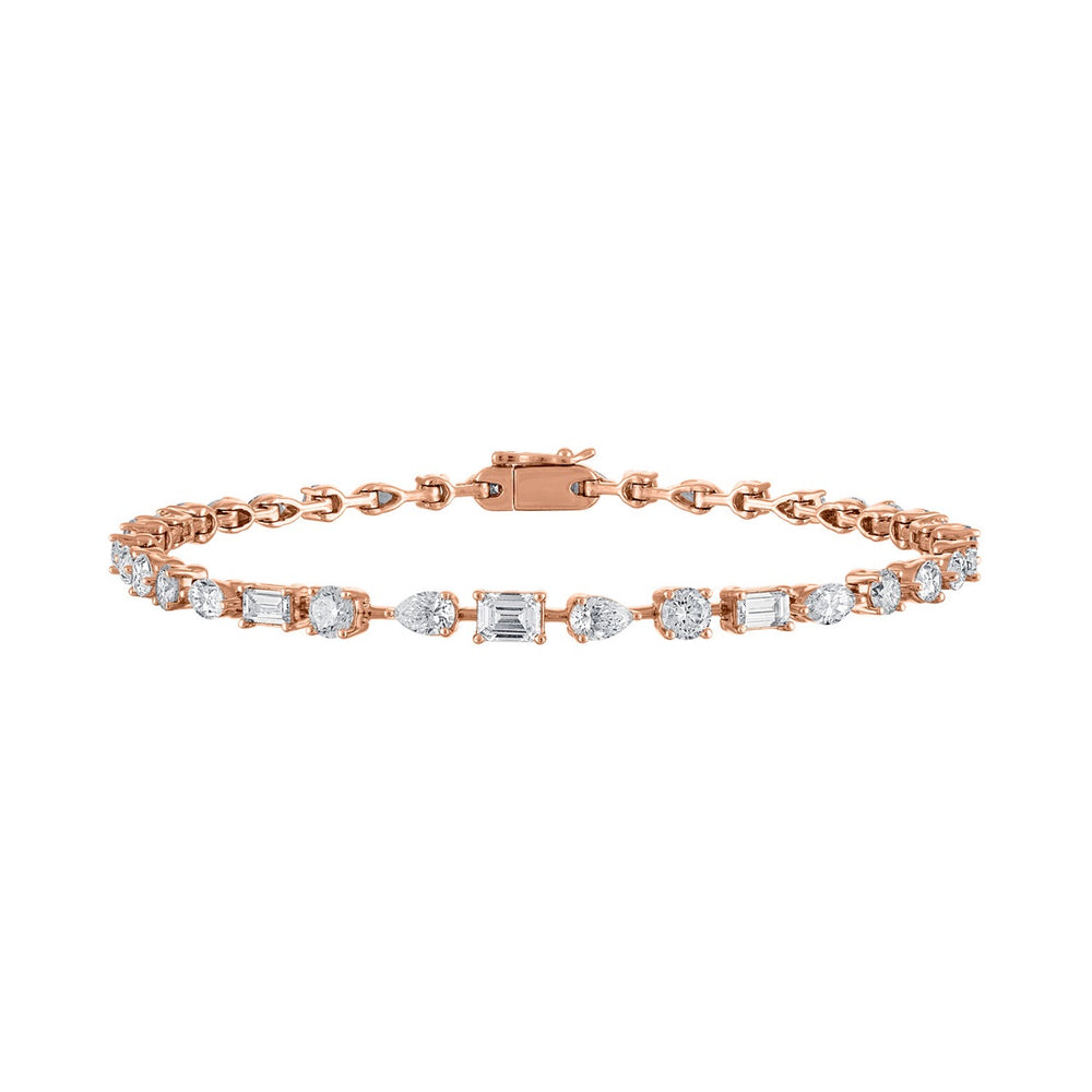 Multishape Diamond Tennis Bracelet