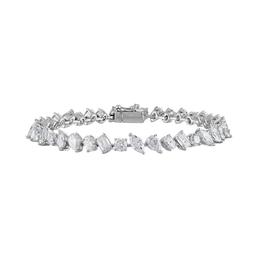 Special Multishape Diamond Tennis Bracelet