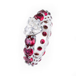 Solitaire Heart Ruby Band