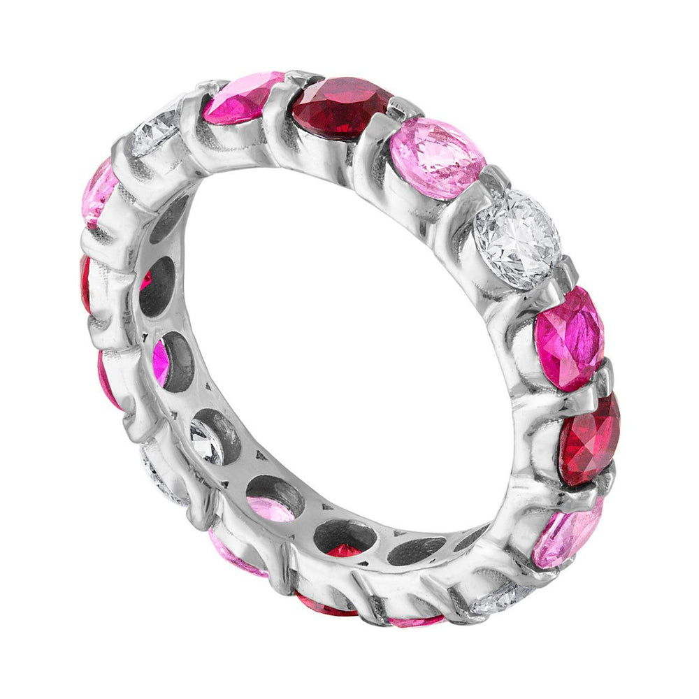 Pink Ombre Eternity Band