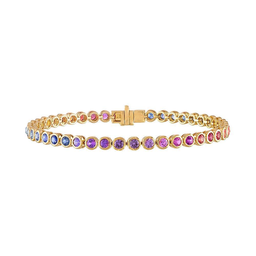 Multicolor Bezel Set Tennis Bracelet