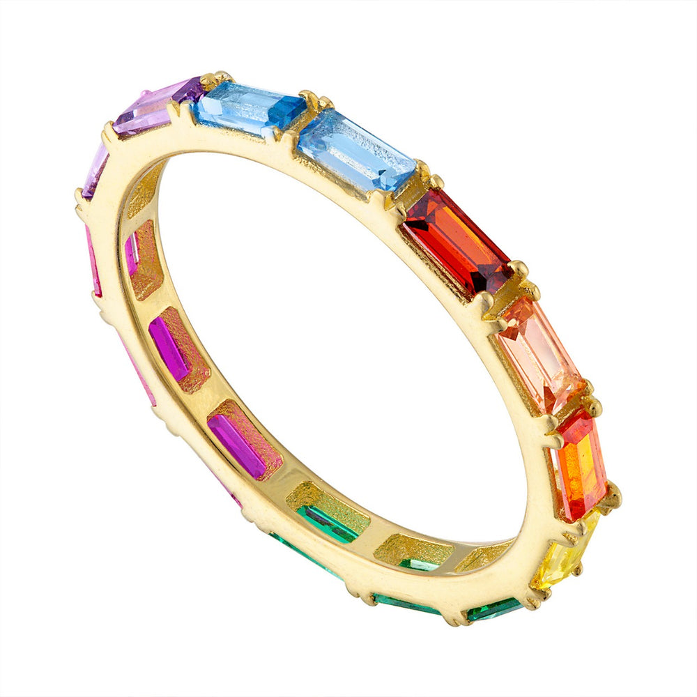 Multicolor Baguettes Ring