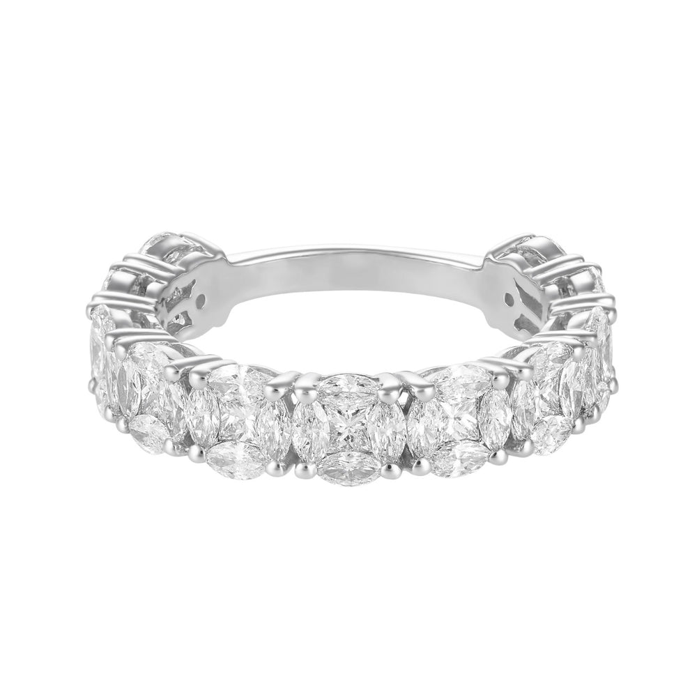 Illusion Round Diamond Eternity Band